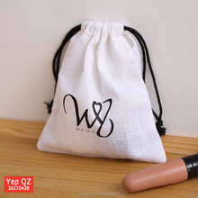 cheap custom printed cotton muslin white draw string bag