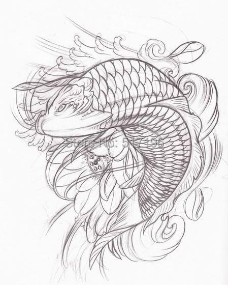 Wholesale-PDF Format Tattoo Book Chinese Hetattoo KOI