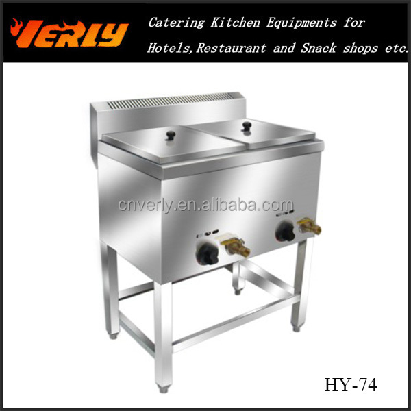 Commercial double fryer/ capacity 12L 2 Tank 2 Basket deep tank Gas Fryer HY-74