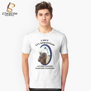 New Fashion funny inflatable horse costume Printed T shirt Men Hipster Cotton