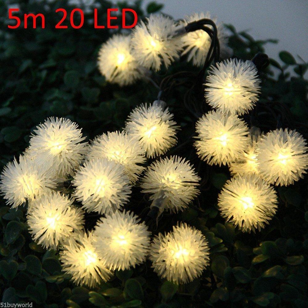5m 20 LEDs Solar String Light Christmas Props Lamp Decors ???????????? ???????? ~ITEM #GH8 3H-J3/G8335704