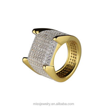 Women Gift 4 Gram Simple White Diamond Gold Ring Designs Saudi