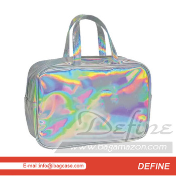 Holographic Cosmetic Bag Women Travel Makeup Organizer China Factory , Buy  Holographic Cosmetic Bag,Iridescent Cosmetics Organizer Makeup Organizer