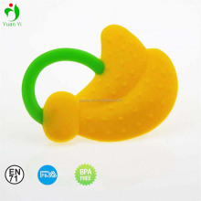 High Quality BPA free banana silicone baby teether