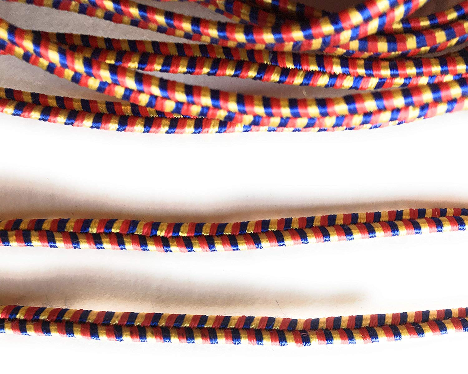 4mm Multi Color Soutache Rayon Braided Cord Beading, Sewing,Quilting Trimming String 10 Yards