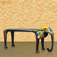 Fiberglass 2.5M lengh animal design dining bar table elephant creative ideal interior furniture