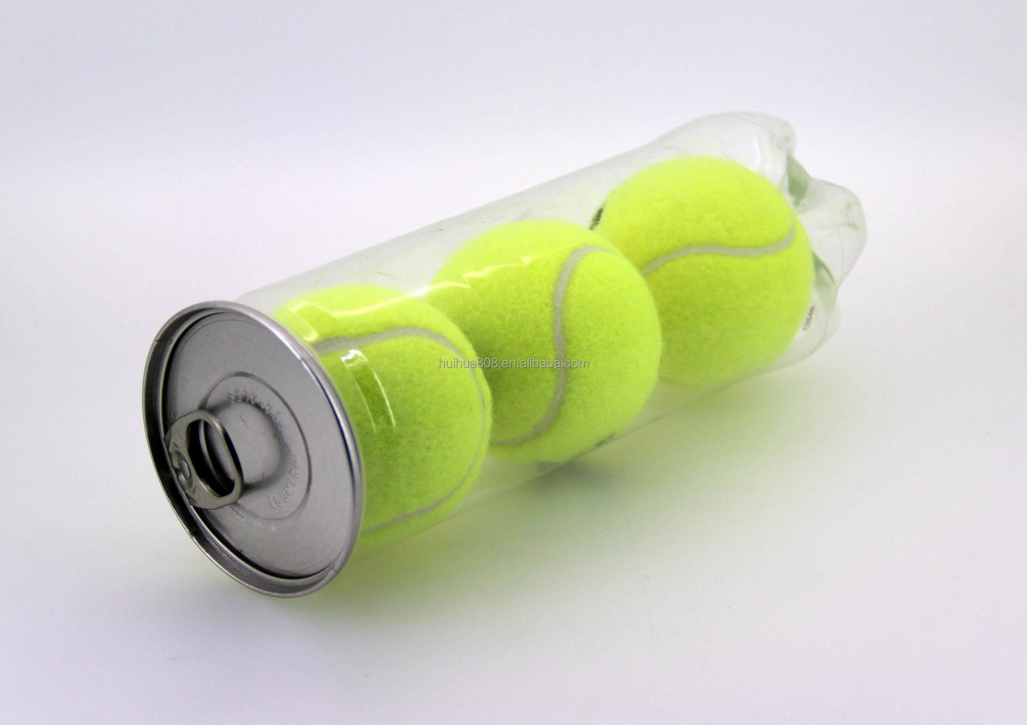 PET transparent plastic tennis ball can