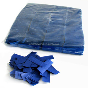 Flameproof wedding Confetti poppers fireworks Blue Tissue Paper