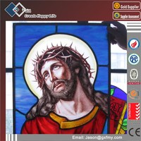 Triple glass Stained glass mosaic glass window
