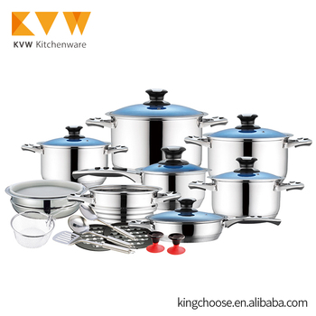 Stainless Steel Pots and Pans Casserole Hot Pot for Camping Cookware Set
