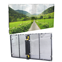 Hot selling P3.91 waterproof glass window led transparent oled display screen