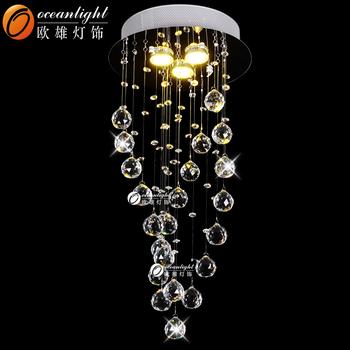 Lampadario Gocce Cristallo Moderni.Moderno Asfour Lampadario Di Cristallo Cristallo Goccia Di Pioggia