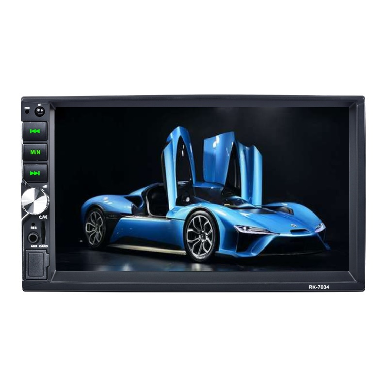 Ad alta definizione 7-pollici touch screen 2 din car audio stereo con interfaccia menu dinamico