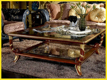 Square Hand Carved Coffee Table Classic Elegant High Quality Furniture
