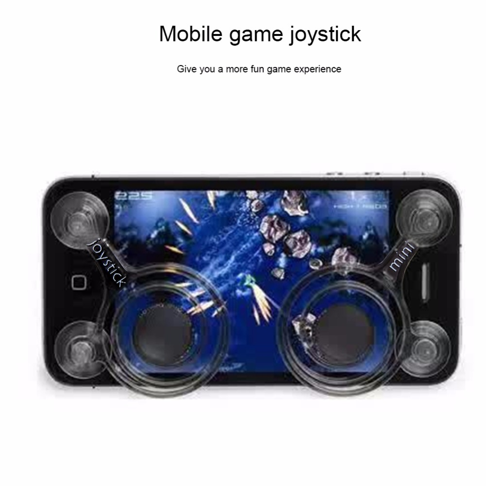 Mobile Phone Game Joystick Rocker Touch Screen Joypad 2 PCS Mobile Phone Fling Joystick