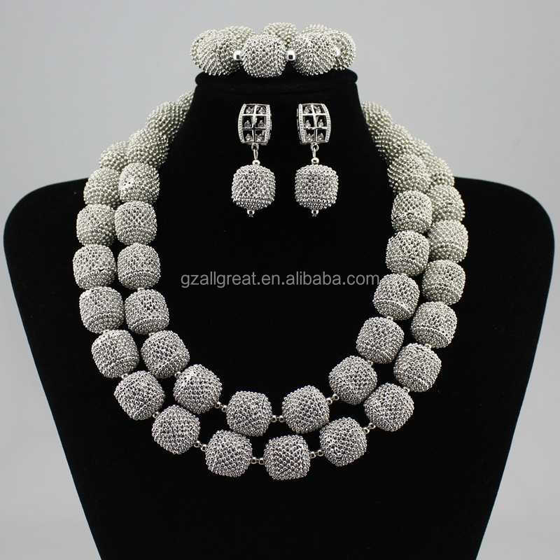 AZ2456 gold  big bead jewelry sets for african style