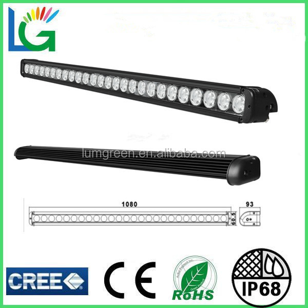 Single Row 42 Inch 260W 12V 24V high lumen IP68 CREE LED used police light bars