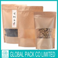 Amazing price ! Chinese factory OEM production kraft paper zipper stand up pouch for tea packing