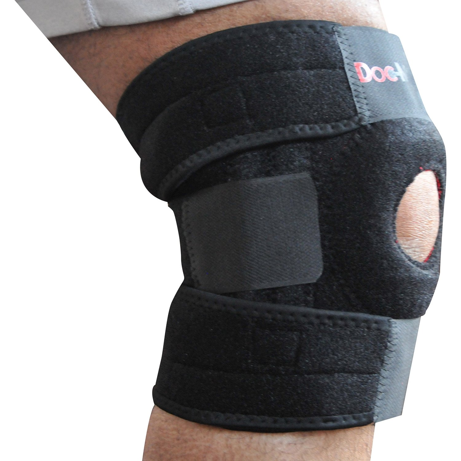 823febed7c Get Quotations · Premium Knee Brace Dual Side Stabilizer Support For ACL  LCL MCL Sports Exercise Meniscus Tear Injury