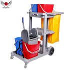 Multi-functional plastic housekeeping cleaning janitorial cart plastic cart with high quality trolley cart