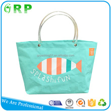Shopping travel use trendy printing football tote bag