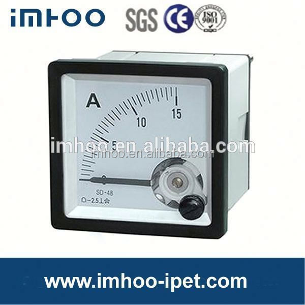 48x48 Analog Panel ammeter and voltmeter