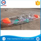 manufacturer new design transparent polycarbonate kayak /clear fishing boat/ crystal pc canoe