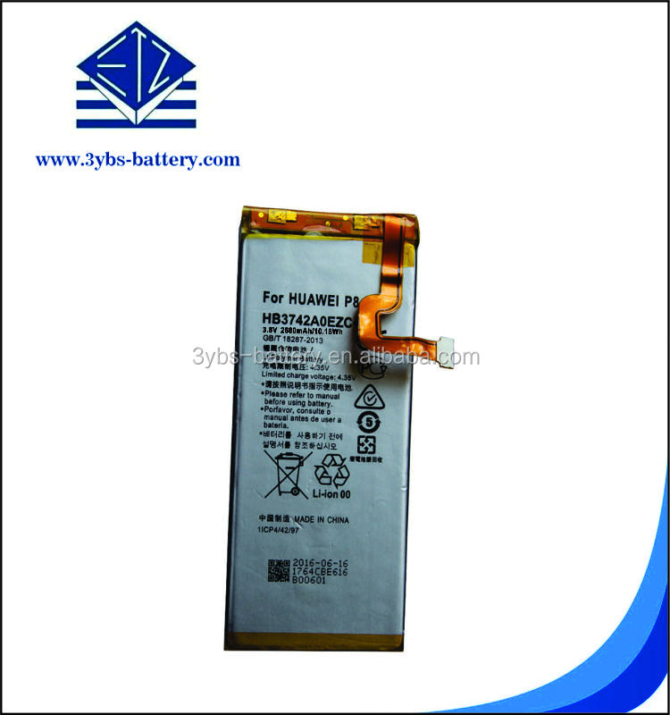 OEM factory li ion battery for mobile phone with high capacity long lasting for huawei P8 HB3447A9EBW