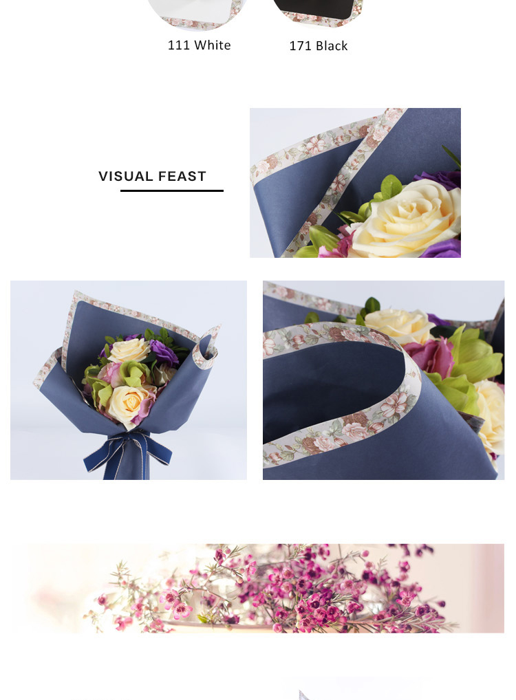 wholesale valentine's day flower packing brown craft paper