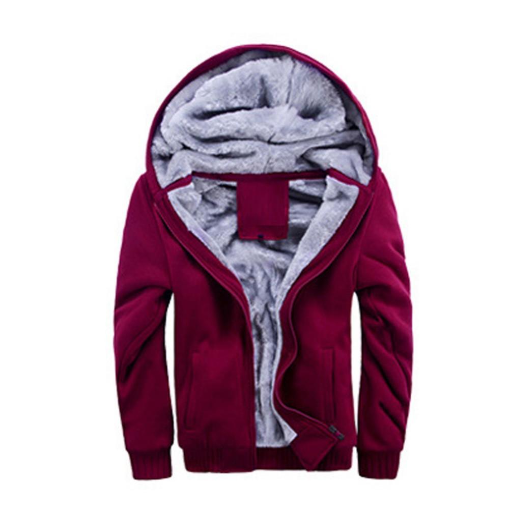 43871640157 Fall Mens Winter Thicken Warmth Sweatshirts Jackets Thick Velvet ...