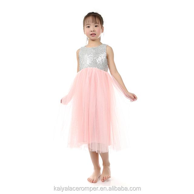 Promoción las niñas vestidos plata, Compras online de las ...