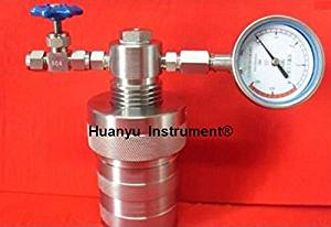 Huanyu Instrument 50mlHydrothermal synthesis Autoclave Reactor Digestion high-pressure reactor with Teflon Chamber&Pressure Gauge