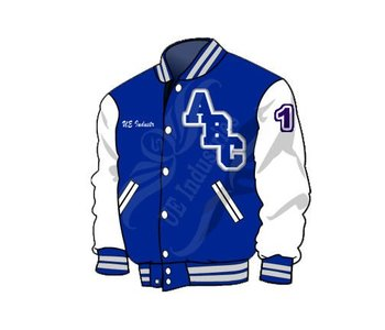 College Varsity Jackets Sketch - Buy College Varsity Jacket Letterman  Jacket,Bomber Jacket,Wool Jacket Product on Alibaba com