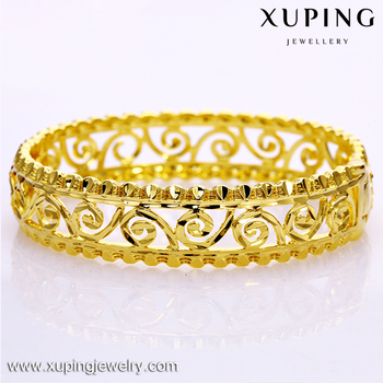 img thick hollow link gold bracelets bracelet cuban yellow wide