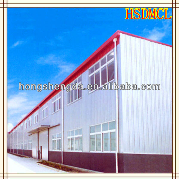 A large steel plant, warehouse, workshop made in HSD on china