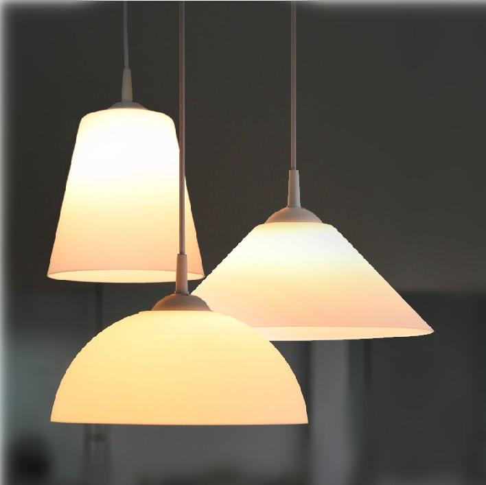 Matting White Glass Home Improvement Pendant Light