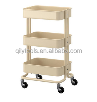 High Quality 3 Tier Kitchen Trolley On Wheel Vegetable Rack Fruit Storage Basket Corner  Shelf