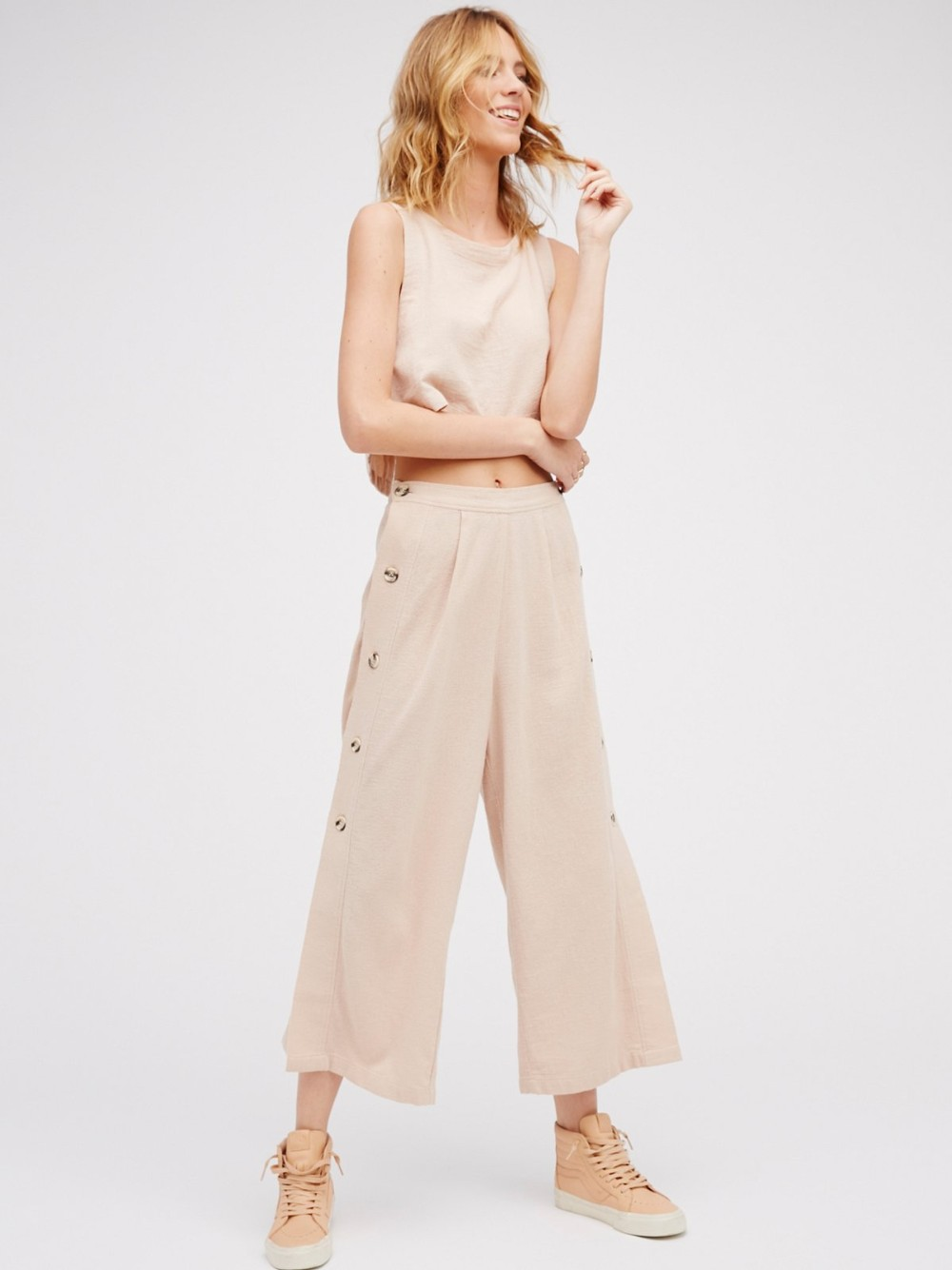 Stylish Design Two Pieces Set Crop Top and Pant Set