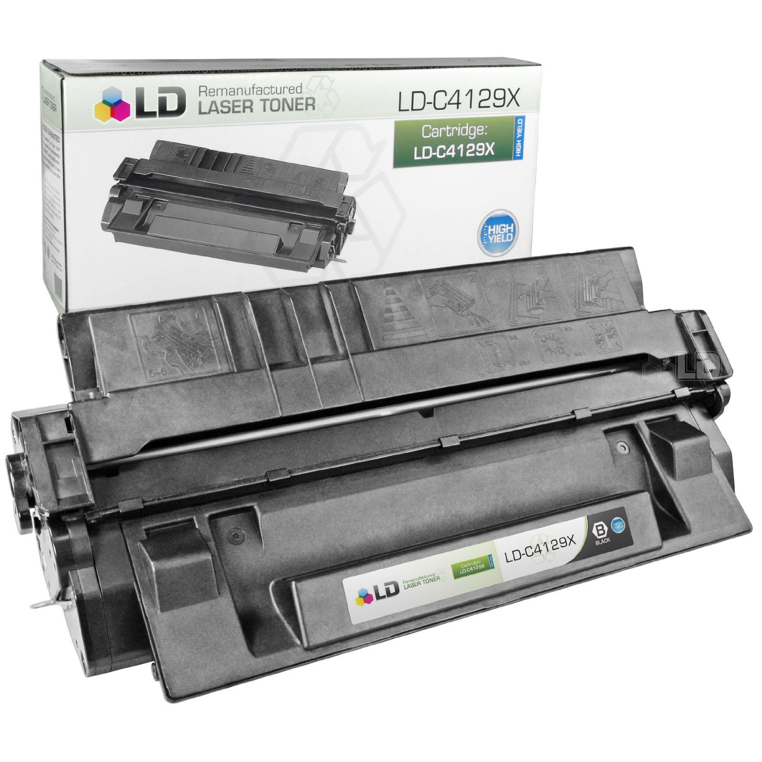 LD Remanufactured Replacement Laser Toner Cartridge for Hewlett Packard C4129X (HP 29X) Black