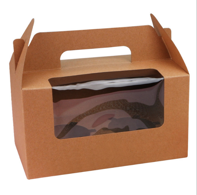Multiple colors cup cake box Open the window mu si mu fu cup cake box contains inner support 2 hole
