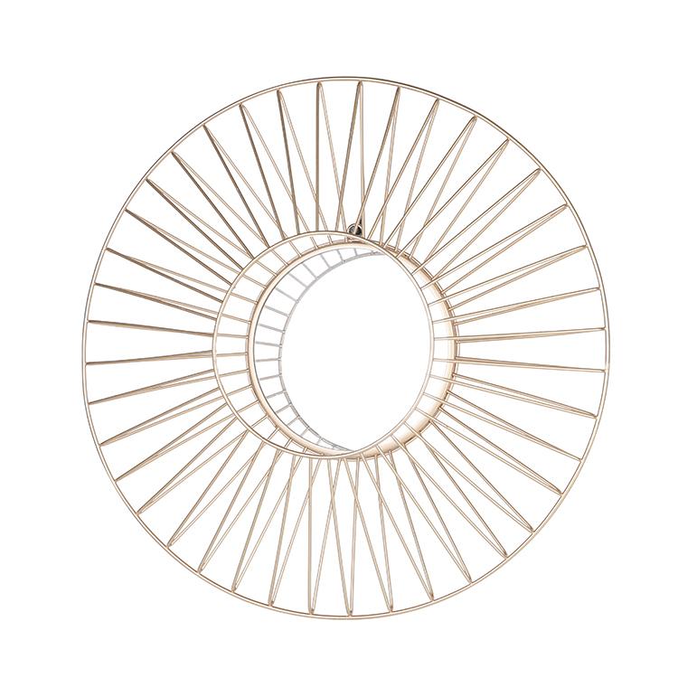 Di figura rotonda del metallo della parete incorniciato specchio decorativo
