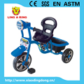 2017 hot sale musical and flashing simple children tricycle with big seat and basket