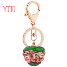 Bag pendant jewelry car hanging ornaments Christmas apple customized keychain