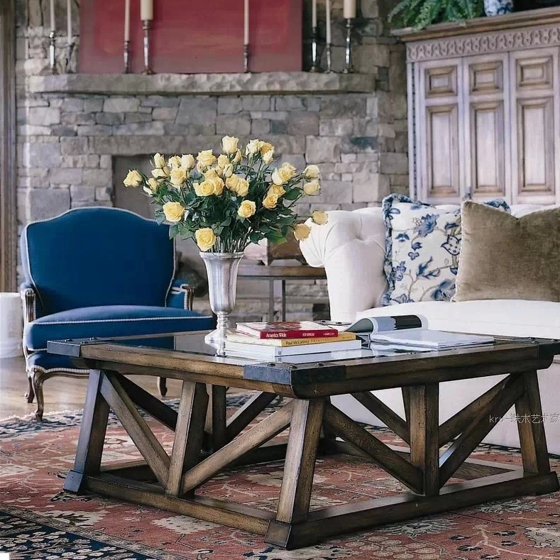 American Solid Wood Furniture Living Room Coffee Table