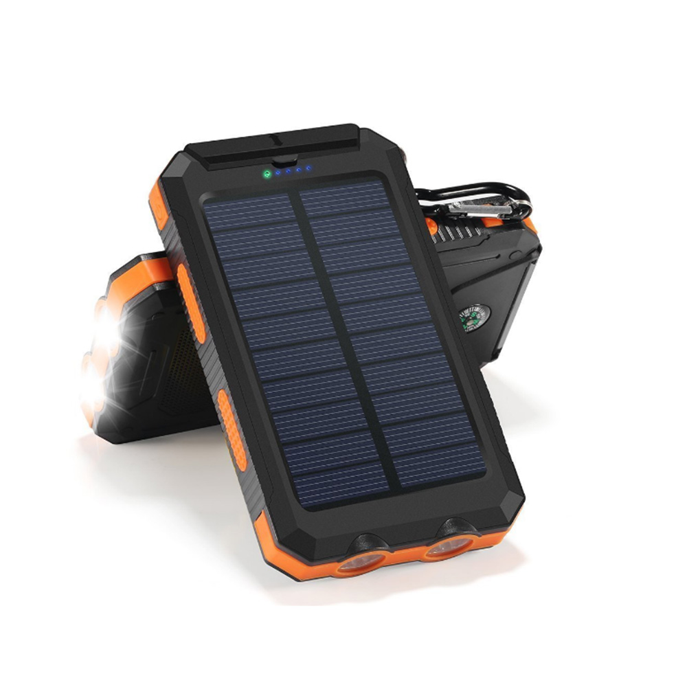 8000 10000 waterproof solar charger cell phone led light universal solar power bank