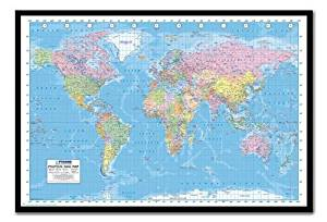 Buy world political map poster magnetic notice board silver framed iposters political world map 2013 poster magnetic notice board black framed 965 x 66 cms approx 38 x 26 inches gumiabroncs Images