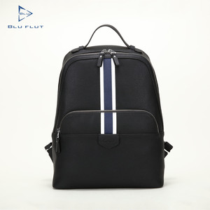 Office Handmade Conference Leather Backpack,Backpack With Metal Zippers