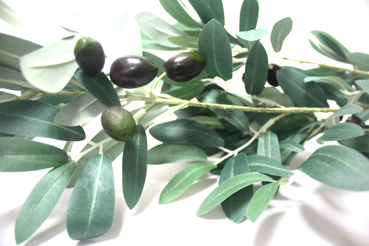High quality china indoor plastic artificial olive spray trees realistic artificial olive branch