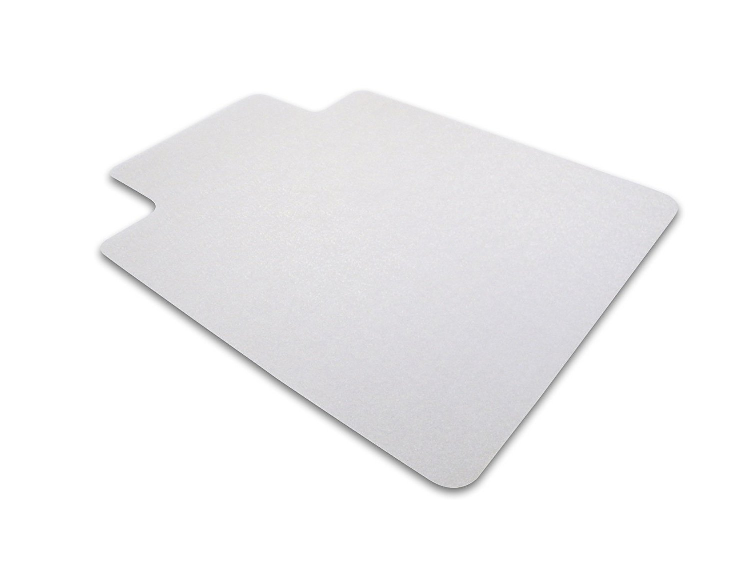 """Cleartex Ultimat Chair Mat, Rectangular With Lip, Clear Polycarbonate, For Hard Floor, 48"""" x 60"""" (FR1215219LR)"""