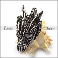 sleeping dragon head shaped stainless steel pendant